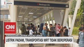 Listrik Padam, Transportasi MRT Tidak Berfungsi
