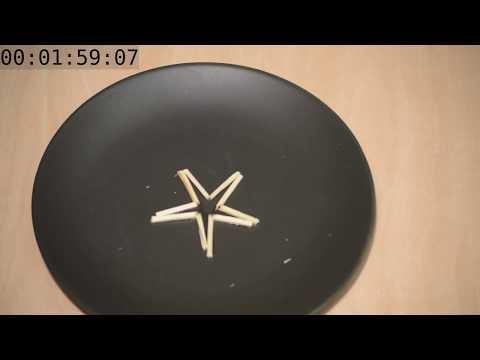 Pohyblivá hvězdička ze sirek