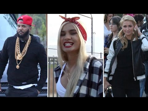 Celebs Attend Chris Brown & Quincy 'Kick'n It For Charity' Event: Paris Hilton, PIa Mia And More