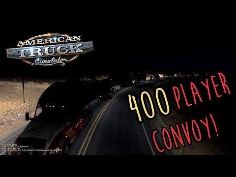 400 PLAYER CONVOY! | American Truck Simulator multiplayer | GRAND CANYON to SAN DIEGO FEBUARY CONVOY