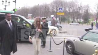 Victoria's secret star Rosie Huntington Whiteley in Paris