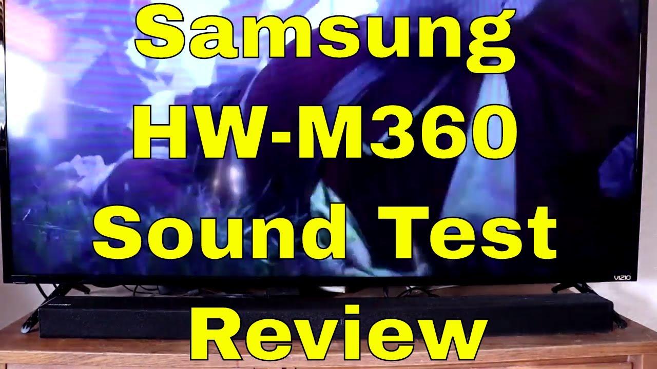 Samsung Soundbar Hw M360 Sound Test Review Youtube Audio K350 Xd