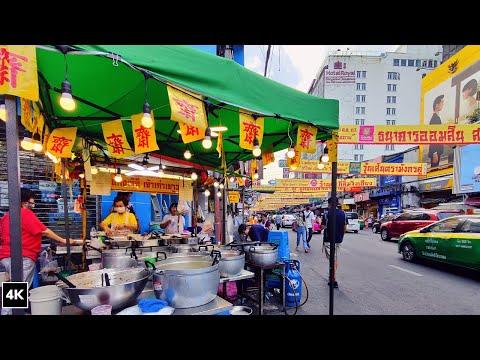 Chinatown Bangkok 2020 Food Festival | Vegetarian Thai Street Food on Yaowarat road Thailand 4K