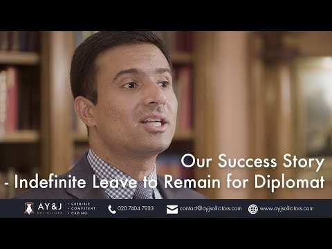 Our Success Story – Indefinite Leave to Remain for Diplomat