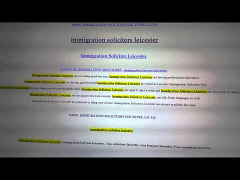 INMIGRATION SOLICITORS LEICESTER