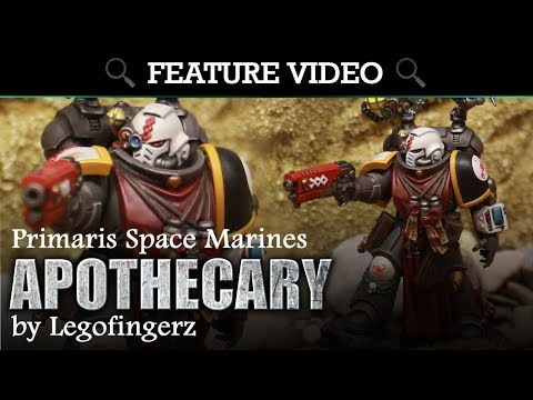 Primaris Space Marines (Red Scorpions) Apothecary Pro Painted by Legofingerz!