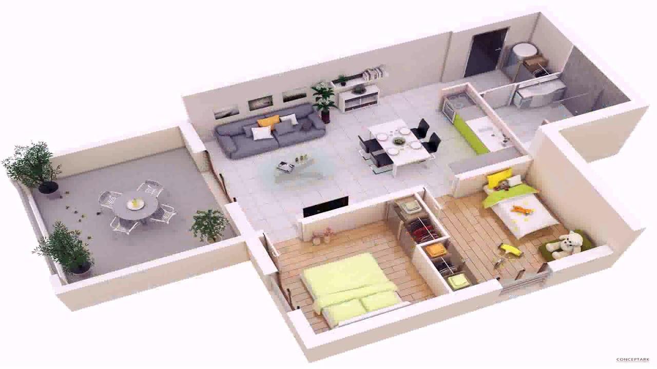 House Plan 2 Bedroom 3d Youtube