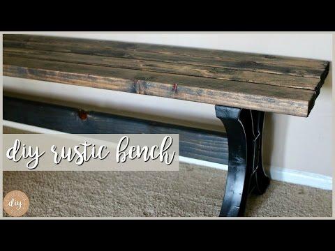 DIY Rustic/Farmhouse Bench⎮Feat. HomeRight