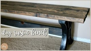 ONE TOOL ONLY! $30 Farmhouse Bench DIY