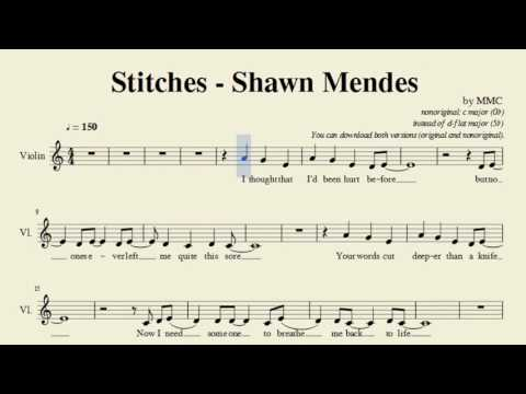 stiches track for violin