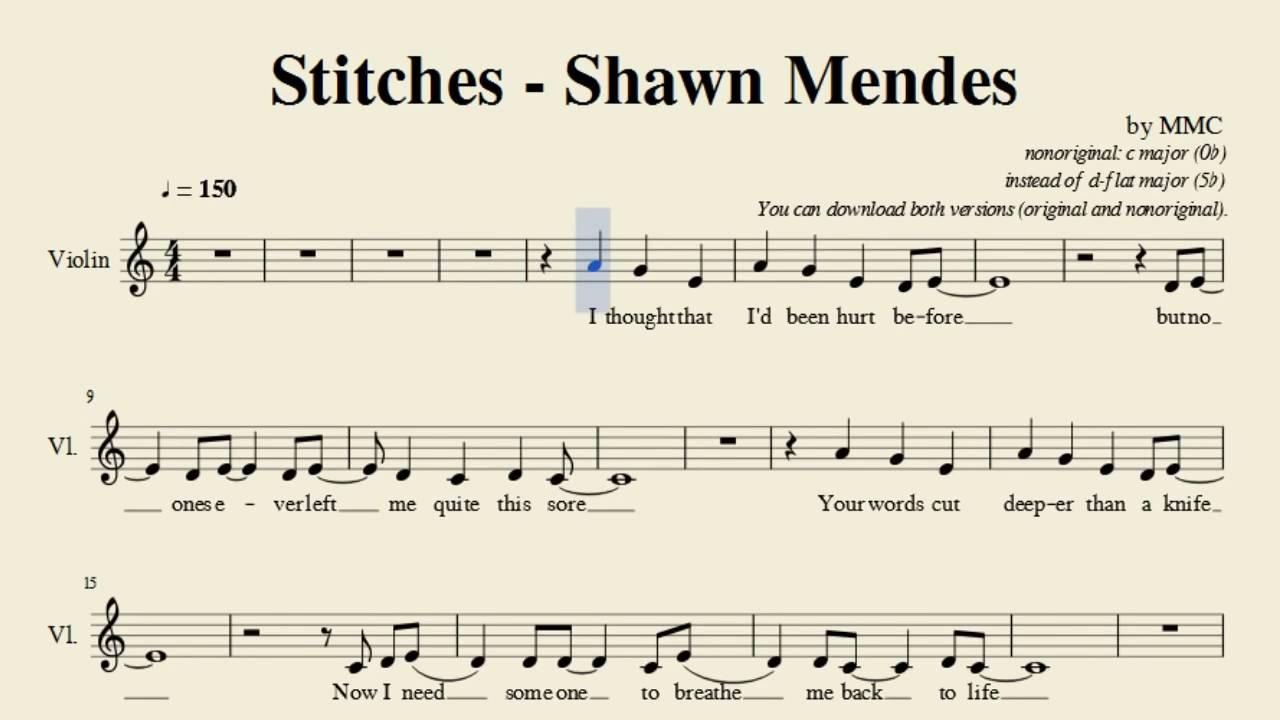 stiches track for violin - YouTube