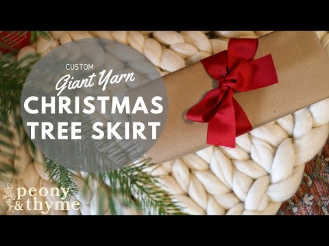 Christmas Tree Skirt Knit With Giant Yarn Fast And Easy