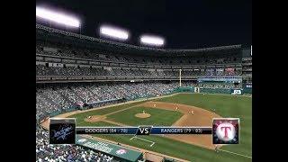 Major League Baseball 2K9 Dodgers vs Rangers Part 1
