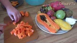 Экзотический салат из фруктов Тайланда. Exotic fruit salad (fruit of Thailand).