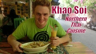 Eating delicious Khao Soi (Northern Thai Noodles: ข้าวซอย) at a restaurant in Chiang Mai Thailand