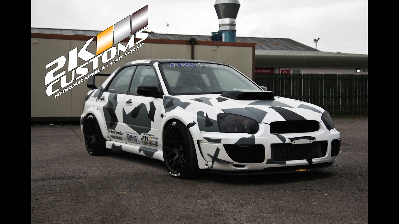 Car Wrapping Subaru Wrx Sl Camo Wrap Youtube