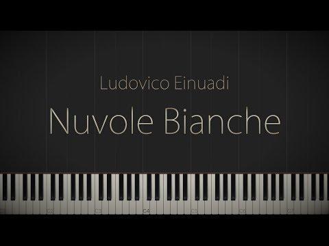 Nuvole Bianche - Ludovico Einaudi \\ Jacob's Piano \\ Synthesia Piano Tutorial