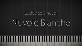 Nuvole Bianche - Ludovico Einaudi \\ Jacob's Piano \\ Synthesia Piano Tutorial