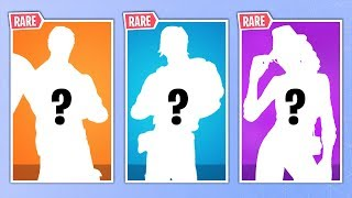 THE 20 SKINS THE MOST RARE FORTNITE!