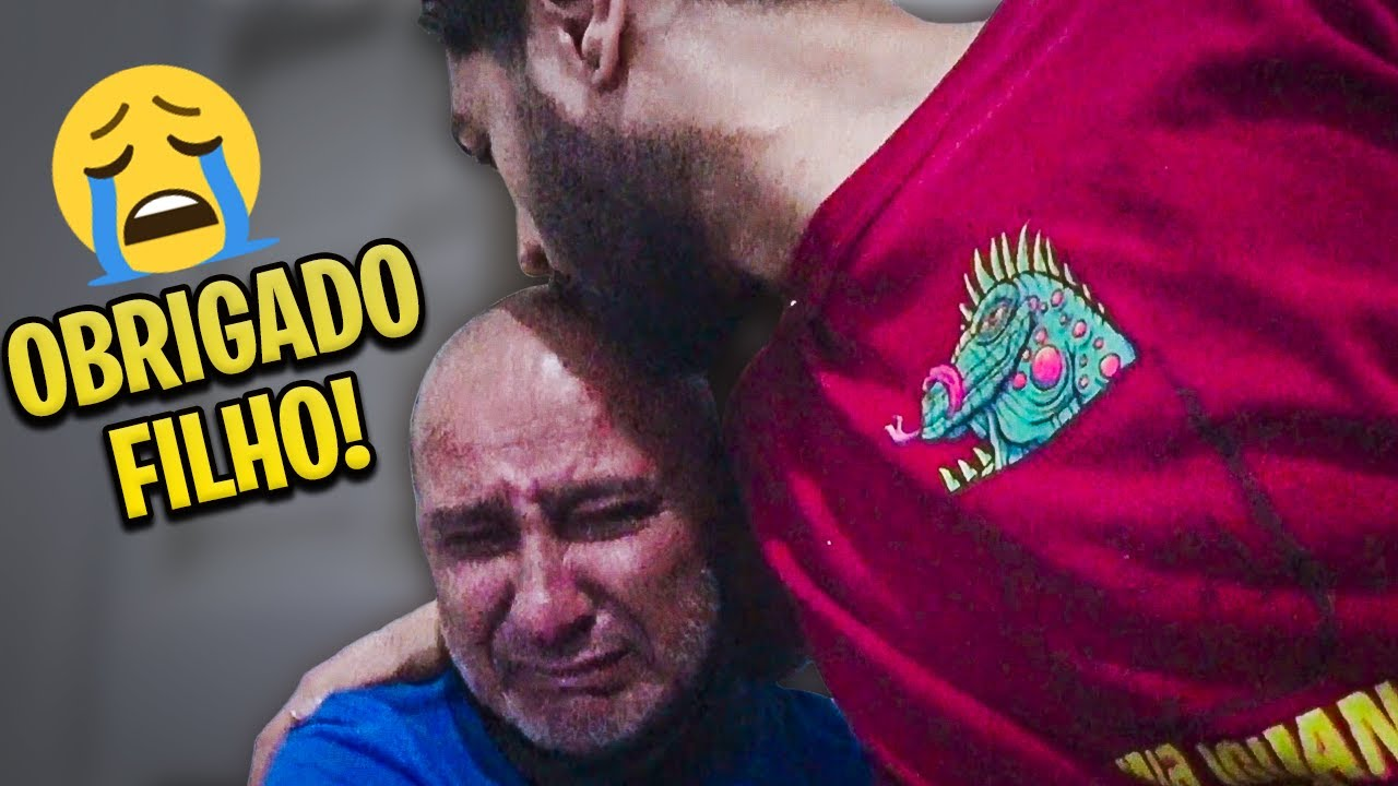 ENTREGUEI AS TV'S PRO MEU PAI E ELE SE EMOCIONOU MUITO!