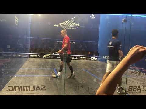British Open Squash 2018 Matthew v Momen 2nd game
