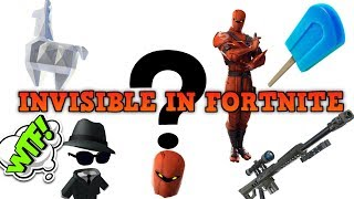 INVISIBLE In Fortnite!!! - Invisible Glitch!!! - How to be INVISIBLE!!! (NOT PLAYGROUNDS GLITCH)