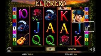Online Casino Sunmaker El Torero mit Einsatz von 5 - 20Euro.