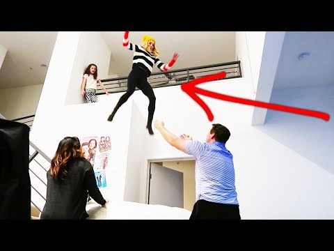 Do Not Try This!  Rebecca jumps off balcony at the Leblanc's. (Day 365)