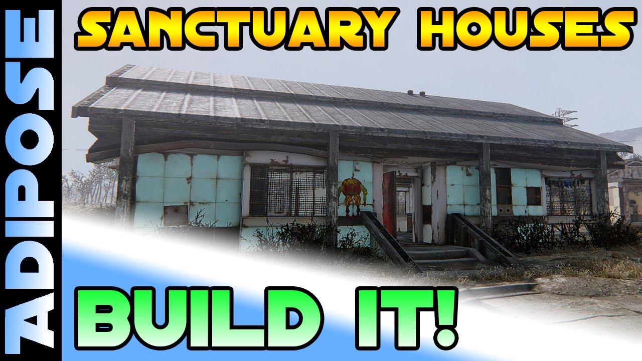 Sanctuary Houses - Barn Roof Walls Doors \u0026 Floors - BUILD IT! #12 Fallout 4 - YouTube  sc 1 st  YouTube & Sanctuary Houses - Barn Roof Walls Doors \u0026 Floors - BUILD IT ...