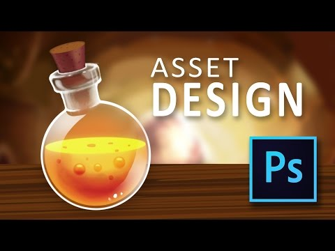 Lava Potion Game Asset Tutorial in Photoshop - full game design tutorial