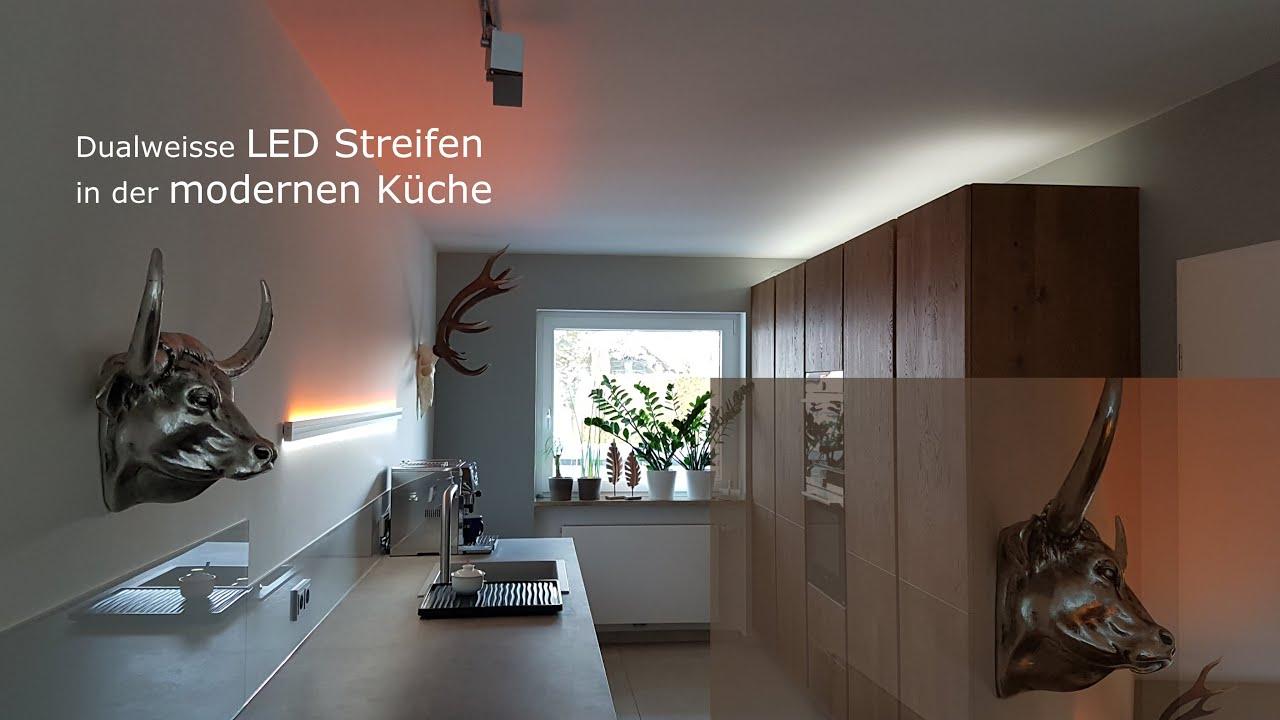 Moderne Beleuchtung LED Küche Dualweisse LED Streifen