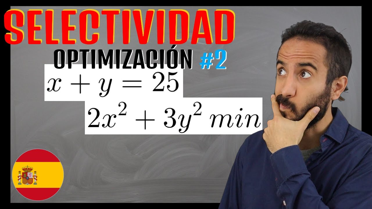 🌟 Ejercicio RESUELTO de Optimización #2 🌟| Selectividad España 🇪🇸