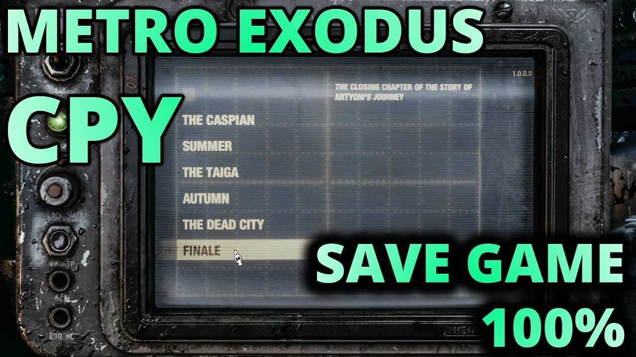 Metro Exodus 100% Save Game for CPY Download All Completed 100% Working