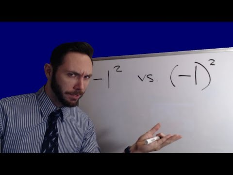 Negative One Squared?... Comparing -1² vs. (-1)²