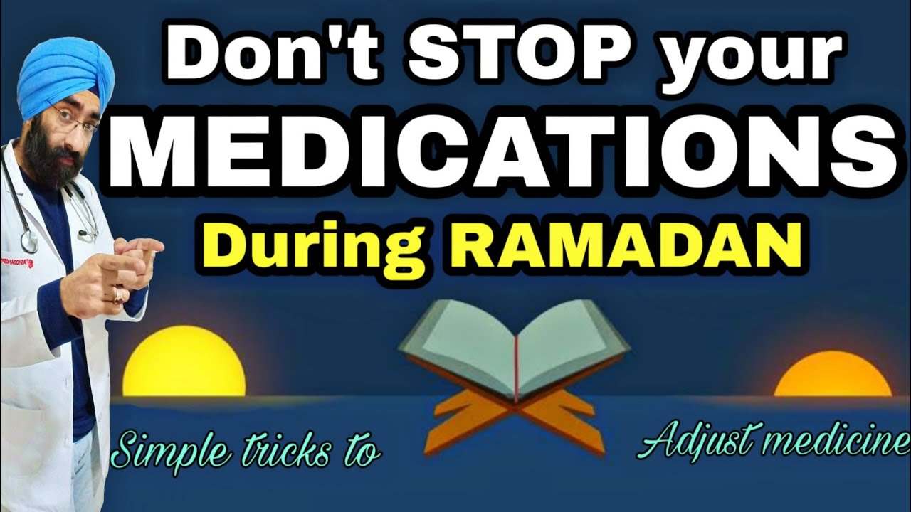 How to take your medicines during Ramadan / Ramzan | Don't Skip just Do  this | Dr Education (Eng)