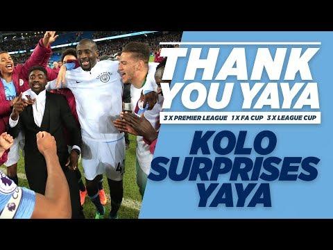 KOLO SURPRISES YAYA! | Yaya Toure Goodbye
