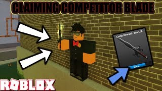 ROBLOX | ASSASSIN: CLAIMING THE COMPETITOR BLADE (AUGUST COMP SEASON 2018 - TOP 100) *HOW TO NOLIFE*