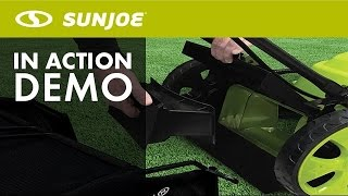 MJ408E - Sun Joe Mow Joe 20-Inch 12-Amp Electric Lawn Mower - Live Demo
