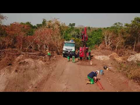 CompactRotoSonic Crawler (CRS-V) drilling in Angola