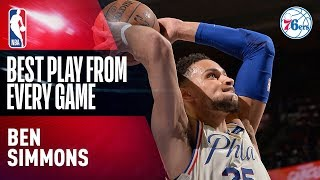 Ben Simmons' BEST PLAY from EVERY GAME | 2017-2018 76ers