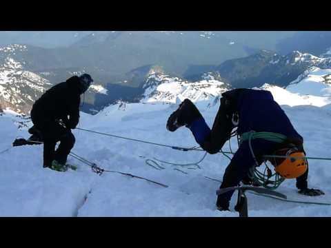 Crevasse Rescue Training - Mt. Rainier