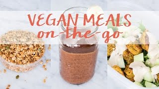 Vegan Meals On-the-go | What I Eat In A Day