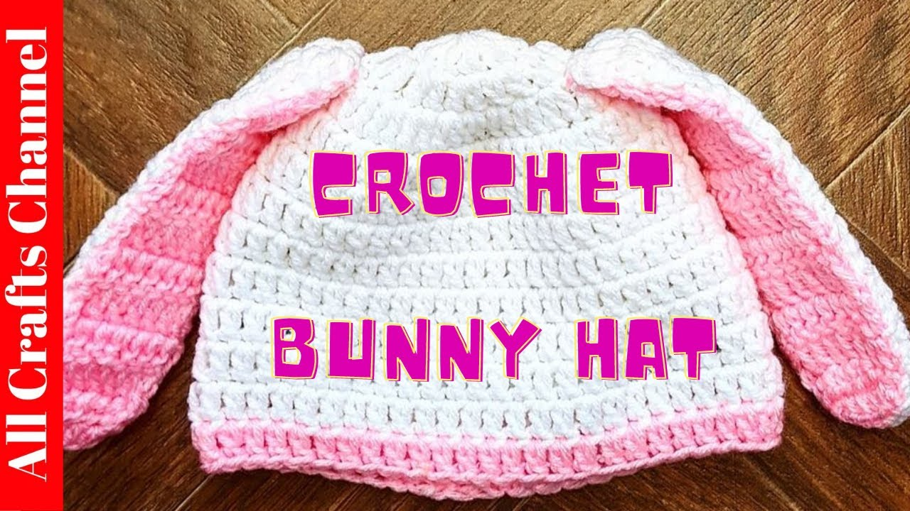 How to  crochet bunny hat - YouTube ccb42a236e6
