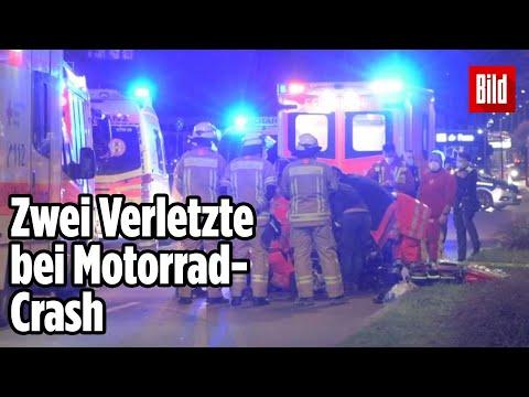 Schwerer Unfall in Berlin: Motorradfahrer und Radfahrer verletzt