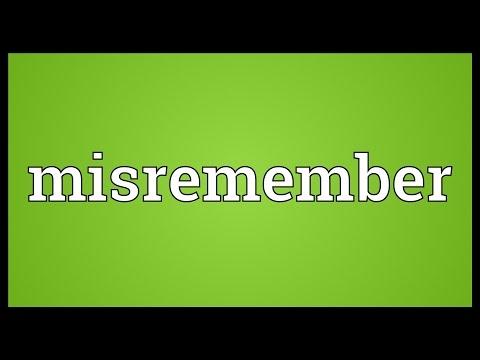 Header of misremember