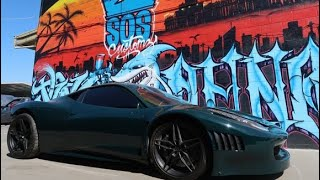 Painting A Ferrari GT3 458 for TJ Hunt (part 3) paint reveal - watch it get sprayed!