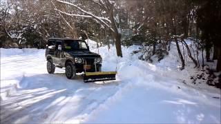 Repeat youtube video JA12 ジムニー スノープラウ (排土板) 除雪風景