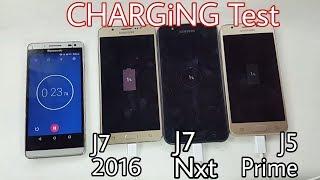 Galaxy J7 Nxt Vs J7 2016 Vs J5 Prime Charging Test