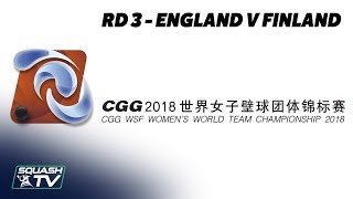 WSF Women's World Team Champs 2018 - England v Finland - Round 3