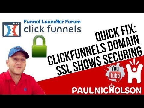 Quick Fix: ClickFunnels SSL Showing Securing Not Secure